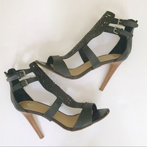 Joe's Jeans Black Cage Cutout Stiletto Heels